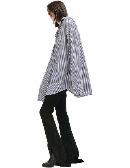 Balenciaga Twisted Striped Shirt - Blue