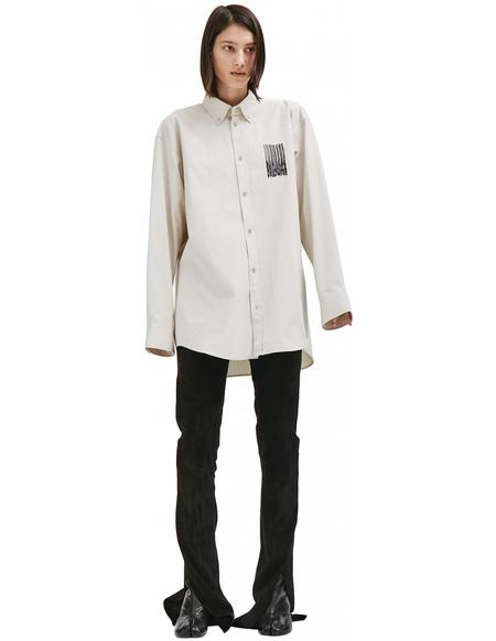 Balenciaga Printed Shirt - Beige