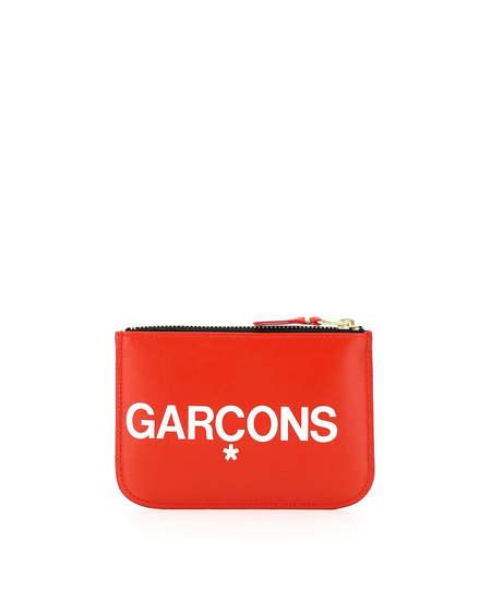 Comme des Garçons Big Logo Leather Pouch - Red