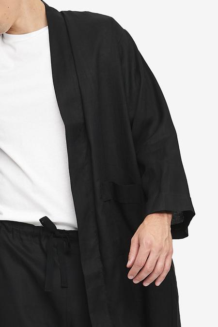 Unisex The Sleep Shirt Robe - Black/White