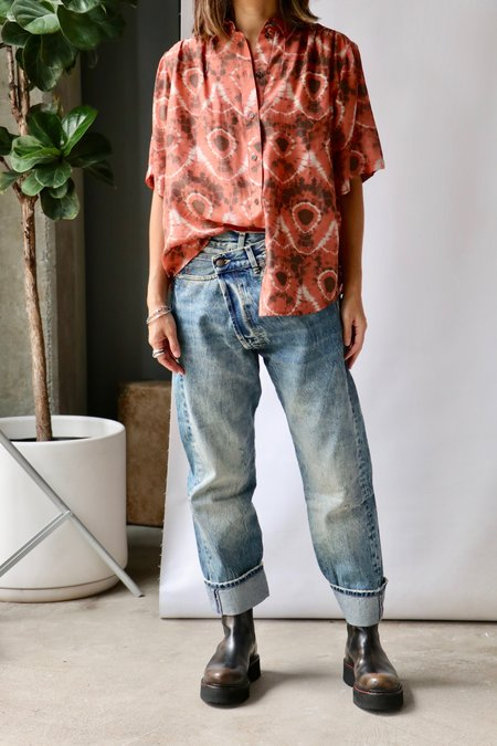 Raquel Allegra Dainty Collar Blouse - Tie Dye Lace