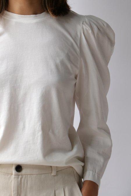 Raquel Allegra Victorian Tee - Washed White
