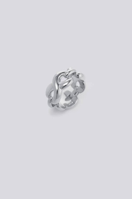 S_S.IL TWIST BOLD & LINK RING - STERLING SILVER