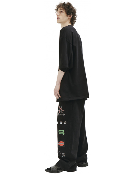 Balenciaga Embroidered Lettering FREE T-shirt - black