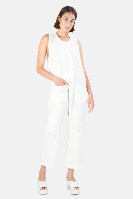 NSF Jordy Oversized Sack Jumpsuit - Soft White