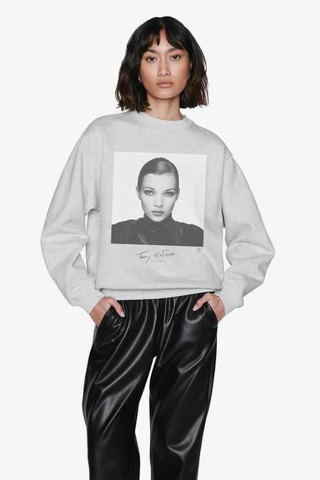 Anine Bing AB x TO Kate Moss Ramona Sweatshirt  - heather grey