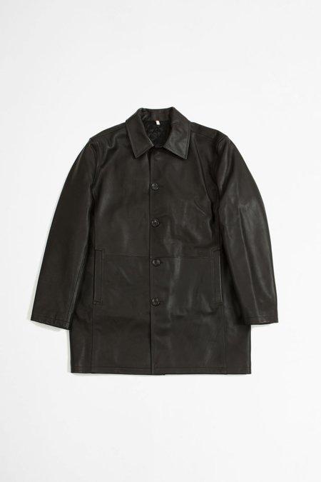 Sunflower Leather Coat - Black