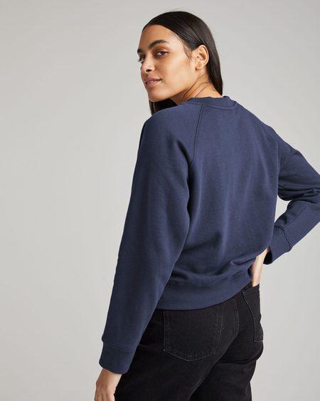 Richer Poorer Nights Recycled Fleece Sweatshirt - Blue