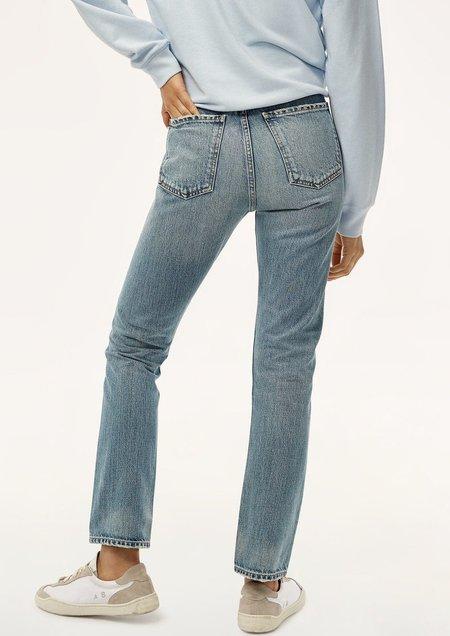 [Pre-Loved] Charlotte High Rise Straight Jeans - Dark Blue
