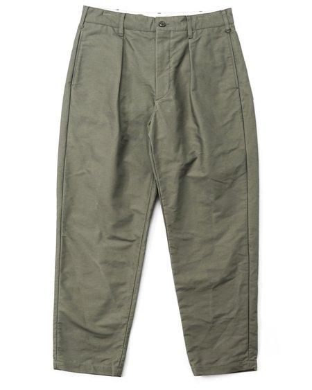 Engineered Garments Carlyle Cotton Double Cloth Pant - Olive