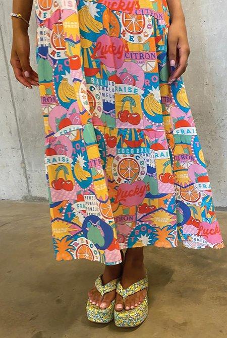 NEVER FULLY DRESSED Fraies Midi Panel Dress - Multi