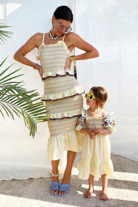 NEVER FULLY DRESSED Pom Pom Rainbow Dress