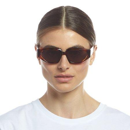 Unisex Le Specs major Sunglasses - toffee tort