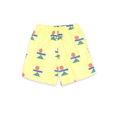 kids Bobo Choses Balance All Over Bermuda Swim Shorts - yellow