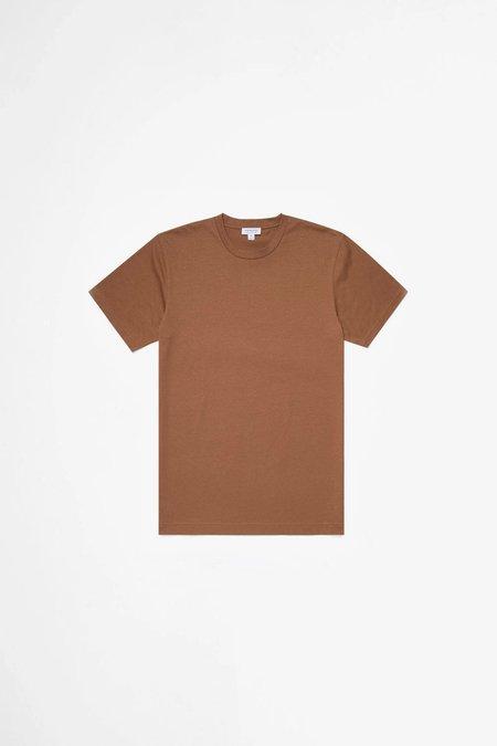 Sunspel Organic Cotton Riviera T-shirt - Mushroom Melange