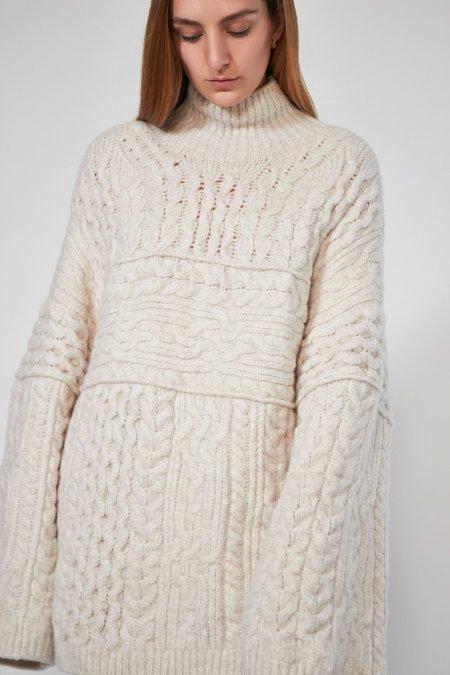 Nanushka Raw Sweater - Creme