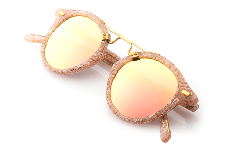 Krewe du Optic St. Louis Sunglasses in Camellia + Rose Gold