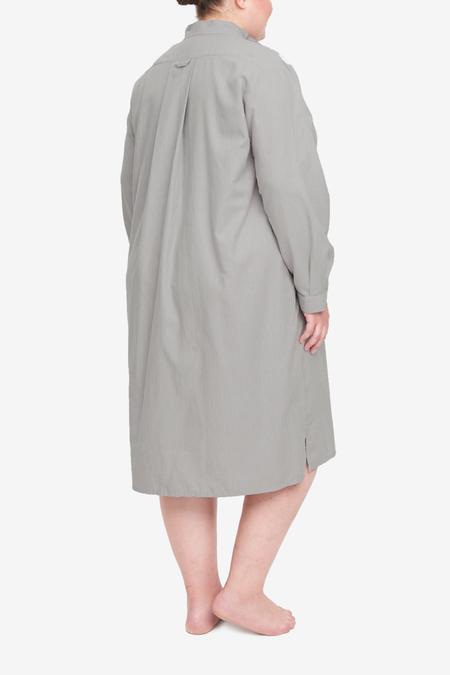 The Sleep Shirt Long Sleep Shirt - Grey Herringbone
