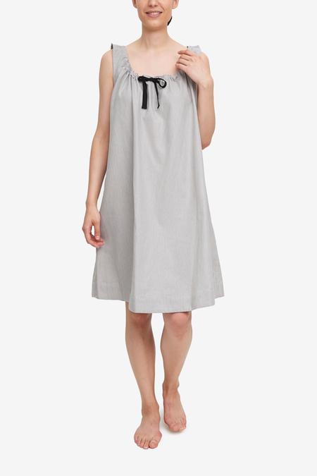 The Sleep Shirt Sleeveless Nightie - Grey Herringbone