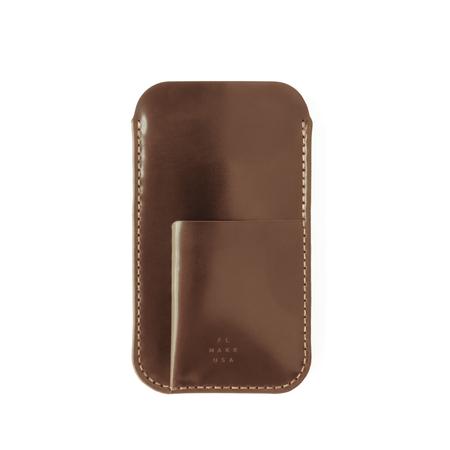 Cordovan iPhone Sleeve w/ Card Holder - Brown