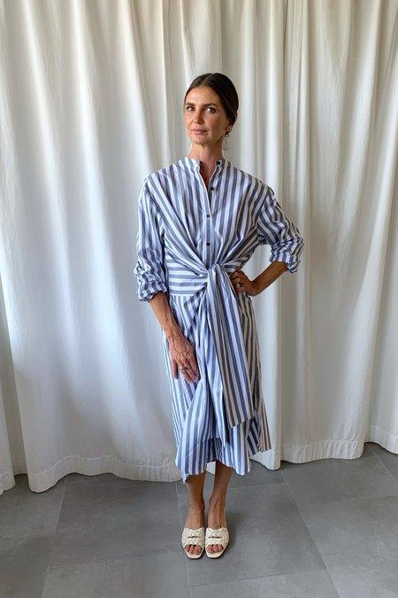 Proenza Schouler White Label Stripe Tied Shirt Dress
