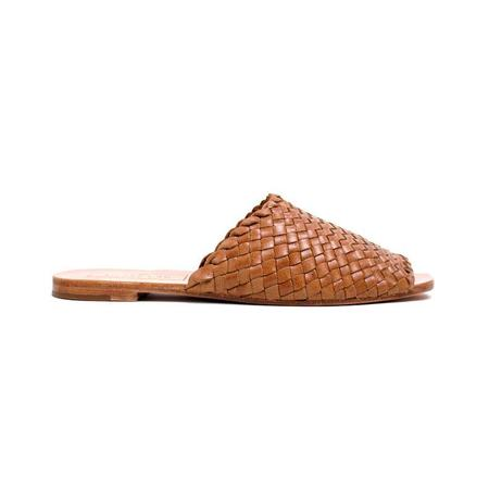 Either Or Miel Woven Slide Mule - Natural Saddle Brown