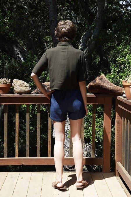Me & Arrow Chambray Denim Shorts