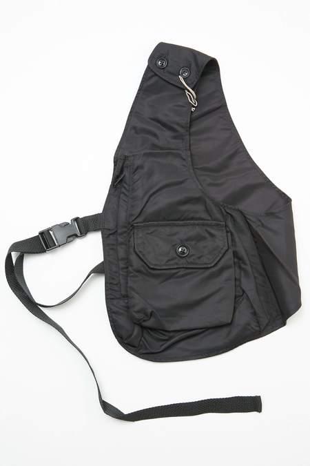 Engineered Garments Shoulder Vest - Black Flight Satin Nylon