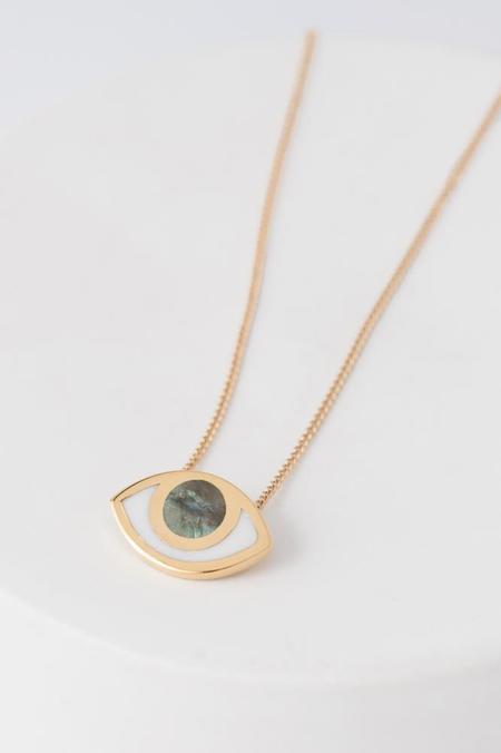 PIA Third Eye Pendant Necklace - Gold & Labradorite