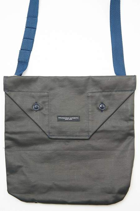 Engineered Garments Coated Twill Shoulder Pouch - Dark Navy