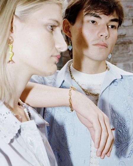 Jean Riley 0.9 Wrist Chain bracelet - 9ct Gold