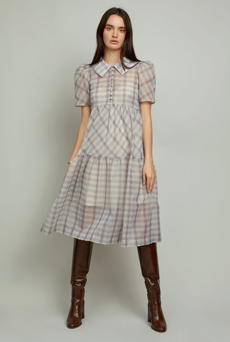CHRISTY LYNN Eve Dress - Lavender Plaid