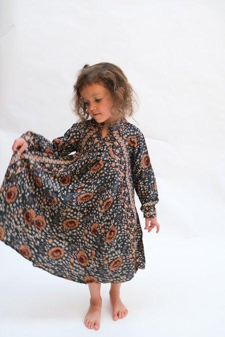 Kids Natalie Martin Fiore Maxi Dress - Olive Vintage Flowers