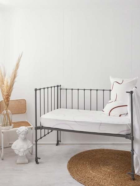 Mosey Me Sample Salento Fitted Cot Sheet - Orchid