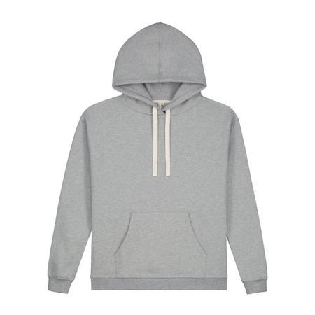 Unisex gray label adult hoodie - grey melange