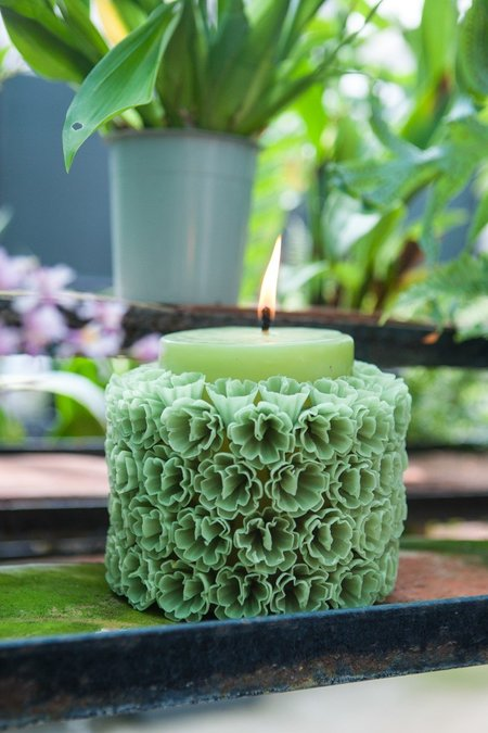 Tidy Street General Store Mexican Flower Candles Big