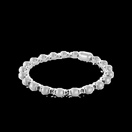 "Italgem Sachi Bead Sandblast-Beads Polished BB-249-7.7"" Bracelet"