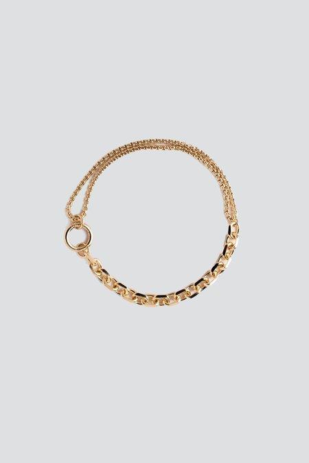 Alta Ora Gold Aside Anklet - Gold