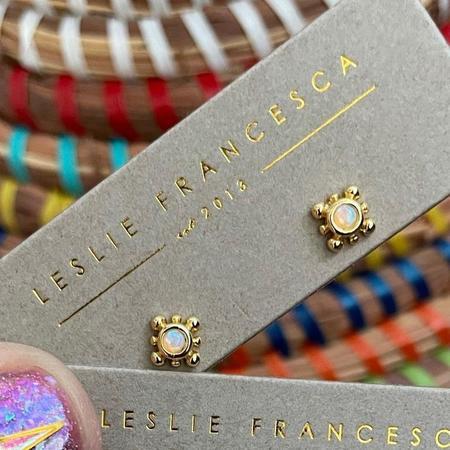 Leslie Francesca Sprinkle Opal Studs - Gold