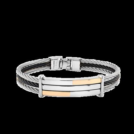 Italgem Ruki Cable Bracelet - Gold/Black/Silver