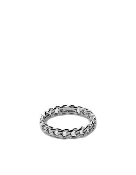 Miansai CUBAN LINK RING - Silver