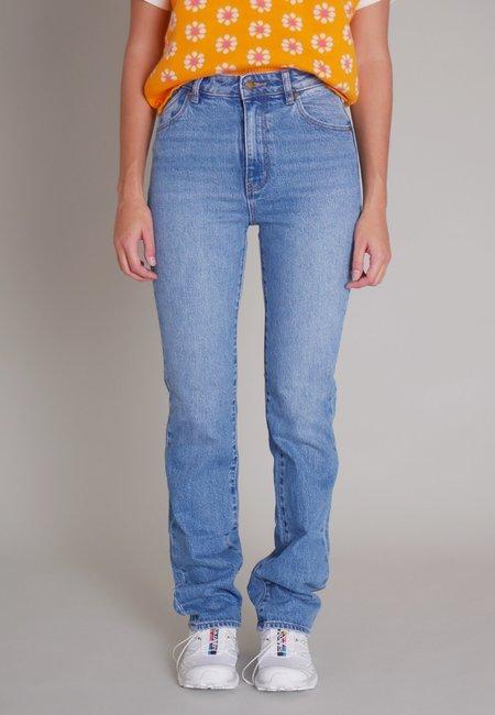 Rollas Original Straight Long Jeans - brad blue