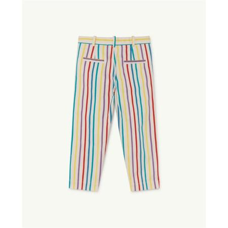 kids the animals observatory camel trousers - white stripes