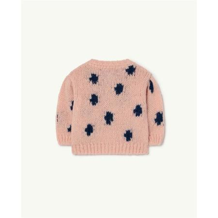 Kids the animals observatory raccoon dots baby cardigan - Pink
