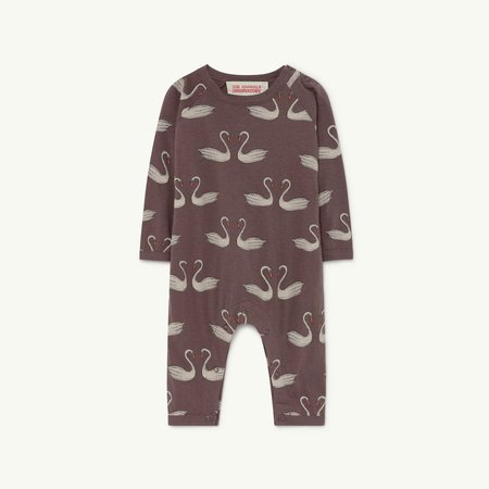 Kds The Animals Observatory Owl Baby Romper - Deep Brown Swans