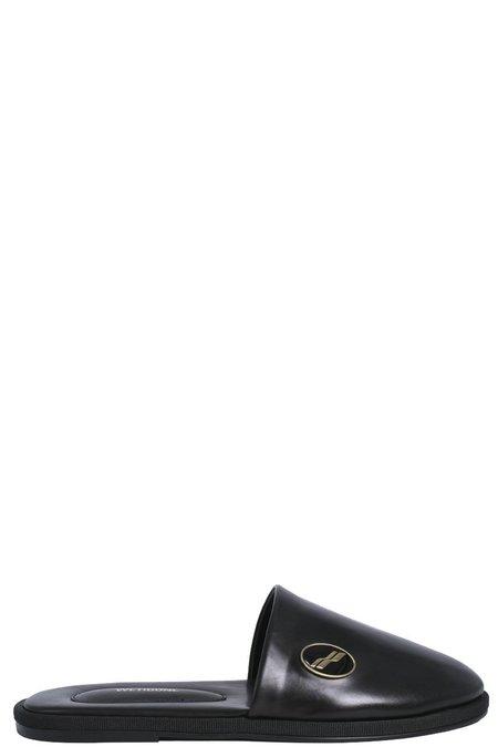 we11done Leather Logo Wappen Mule - Black