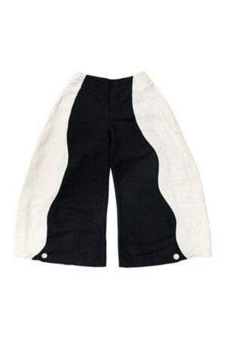 SWIRL PANT / BLACK WHITE