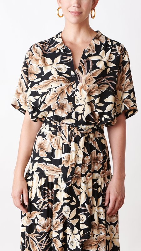 The Great. The Cruise Top - Vintage Hawaiian Floral