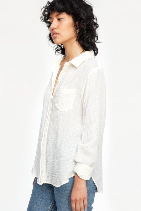 LACAUSA Luxe Nash Button-Up shirt - Whitewash