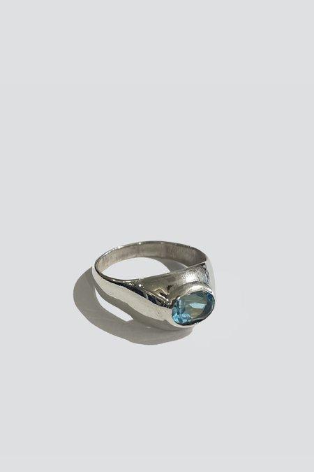 Vintage Topaz Ring - Sterling Silver
